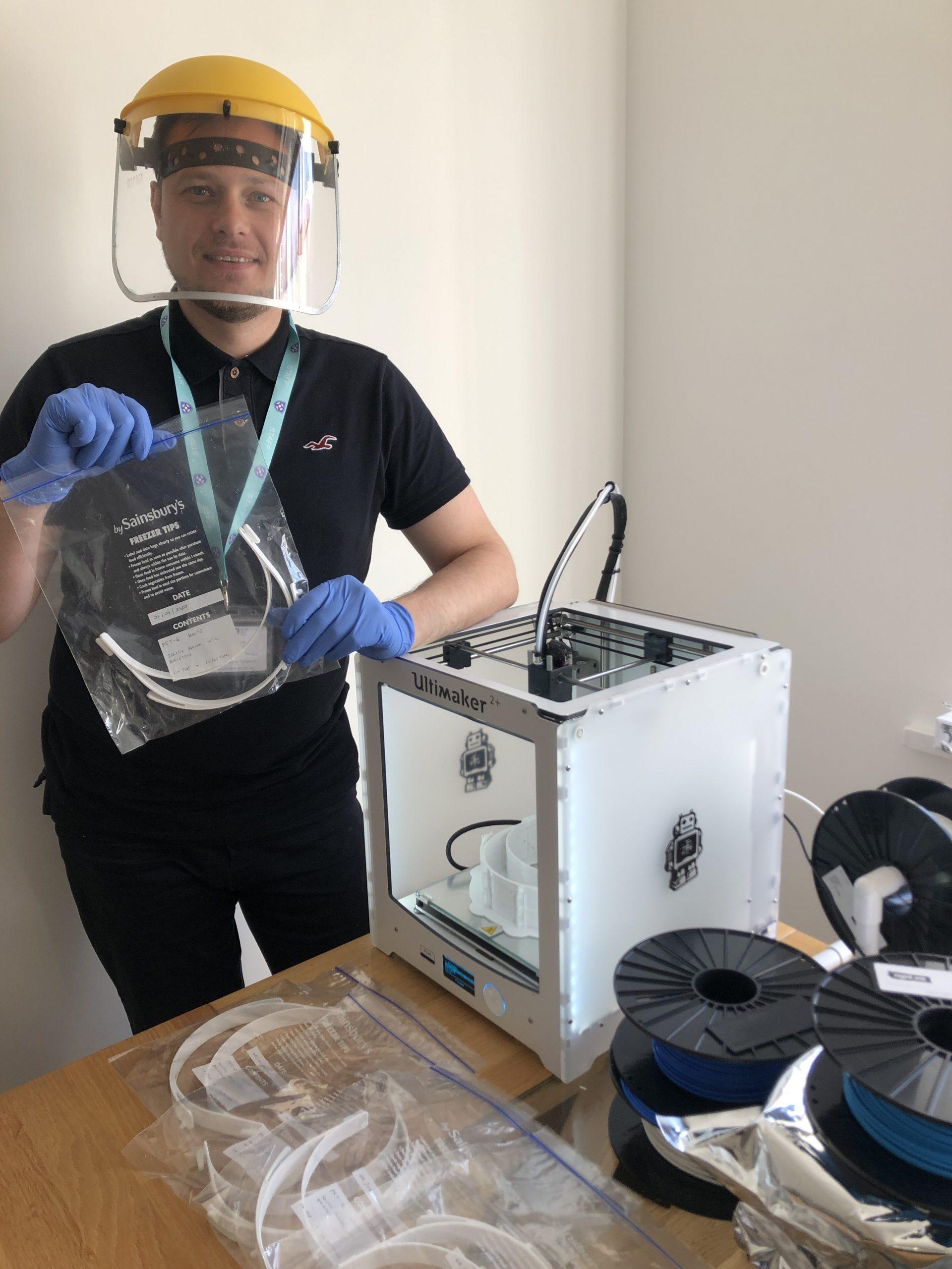 3D printers aid NHS visor scheme